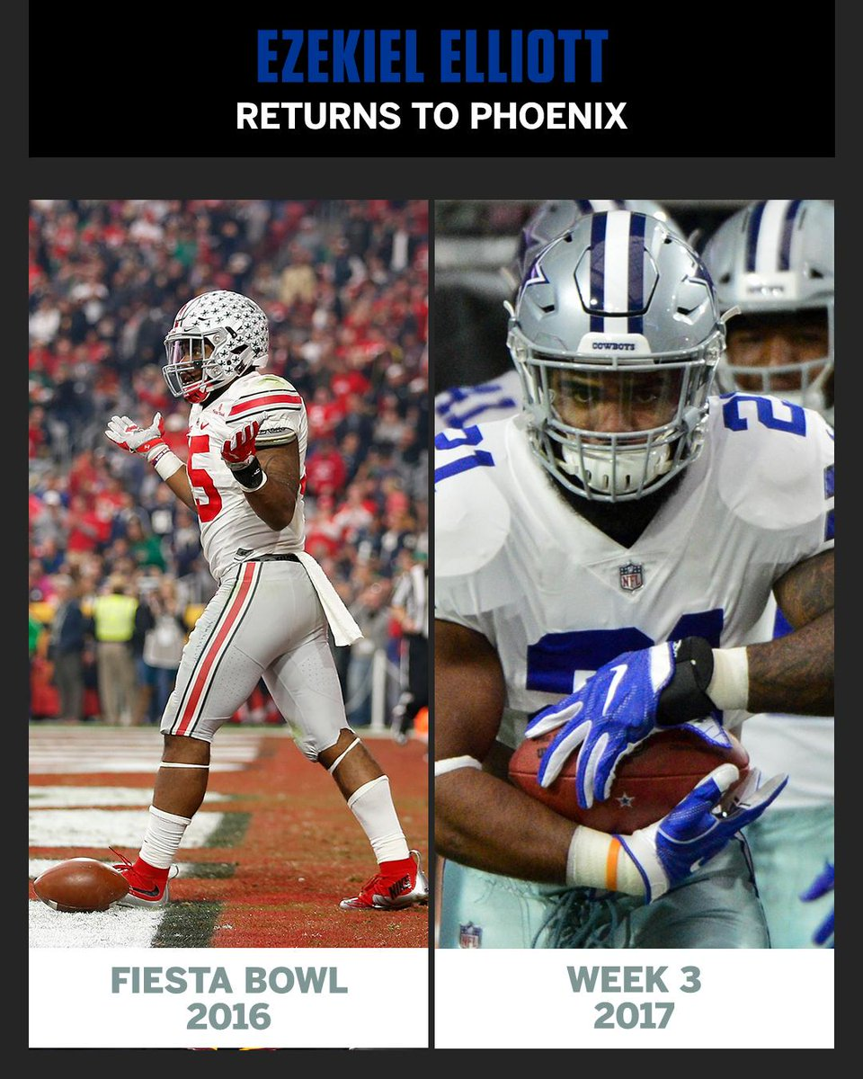 Zeke played his final college game in Arizona.  He's back tonight. htt...