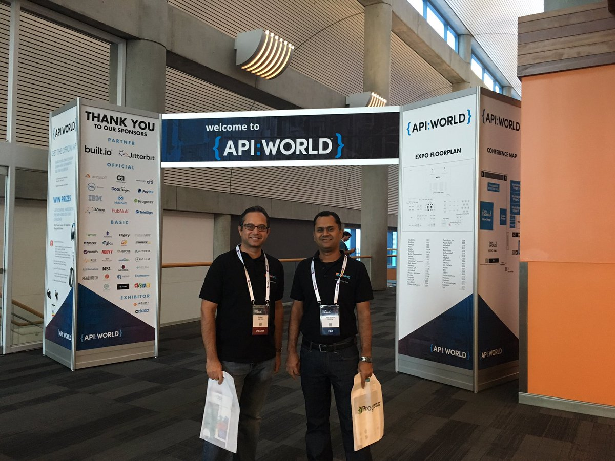 Great talks and workshops @APIWorld, join @zoranginc talk on wed with @kapoor_sumit @anuraggupt on #api &amp; #ai<br>http://pic.twitter.com/R2jrqYCSZR