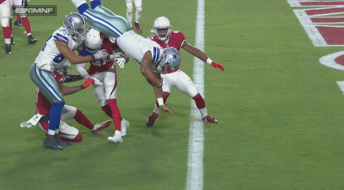 It's a bird, it's a plane, no it's @dak scoring a touchdown. #DallasCo...