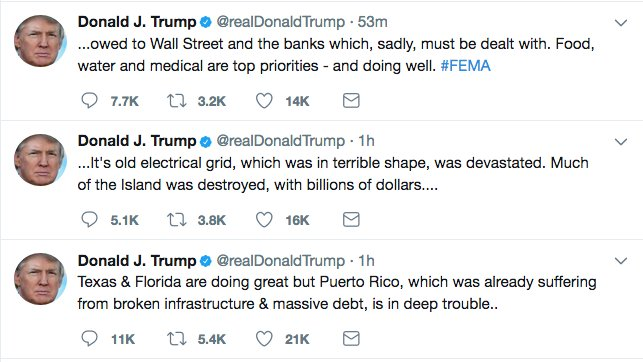 Image result for trump puerto rico tweet