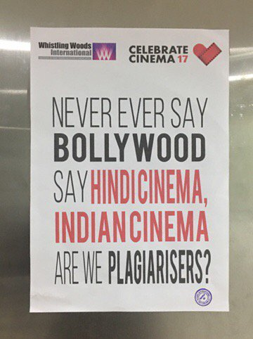 Are we plagiarisers?? 🎥  They called us and we accepted it  with a smile  'Hindi cinema as Bollywood and so on 😩 Why? https://t.co/vGrldYtFAG