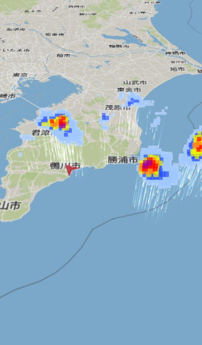 雨雲レーダー 千葉市緑区