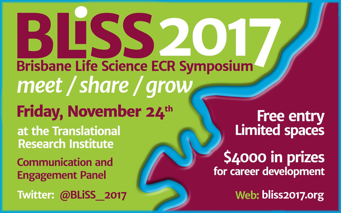 Register for #BLiSSecr2017 to discuss #scicomm with @drmiawoodruff, @frangiman, @drhikov &amp; @michaellund #science #engagement #postdoc #EMCR<br>http://pic.twitter.com/MGM9wqYzaj