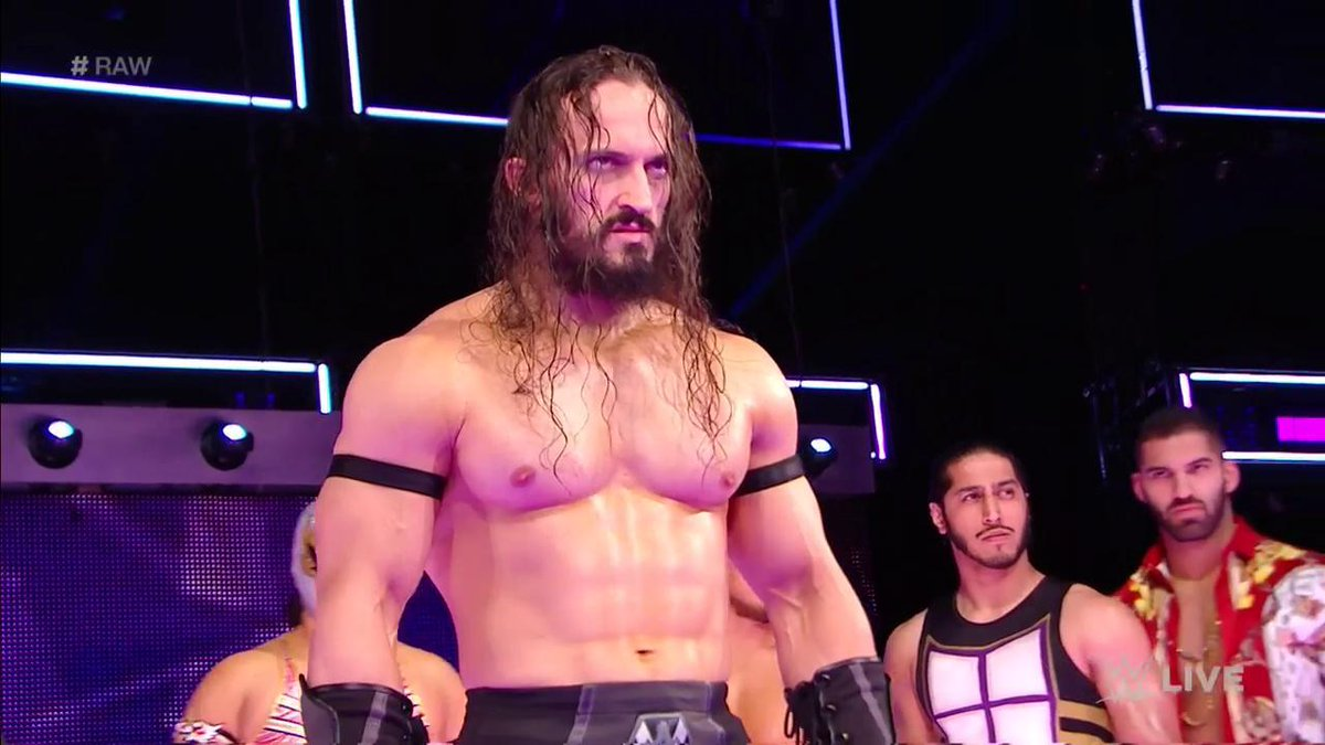 Here comes the former champion...   #RAW #205Live @WWENeville https://...