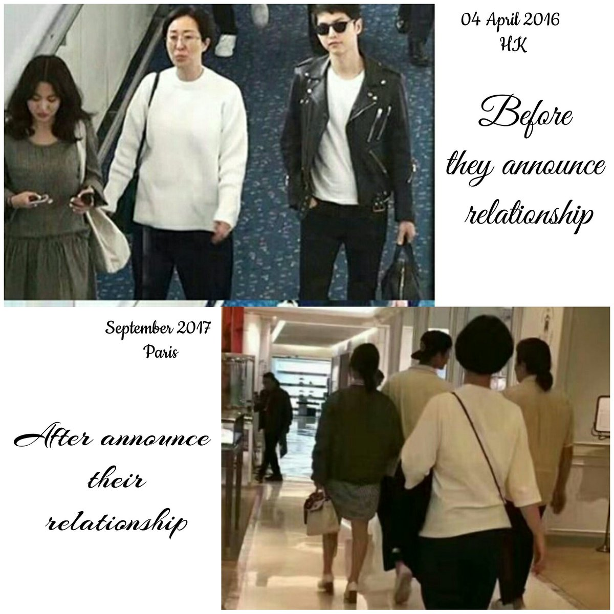 The different is miss park  ( from center to be behind)  #SongSongCouple  #HK #Paris <br>http://pic.twitter.com/7Pd230ngLG