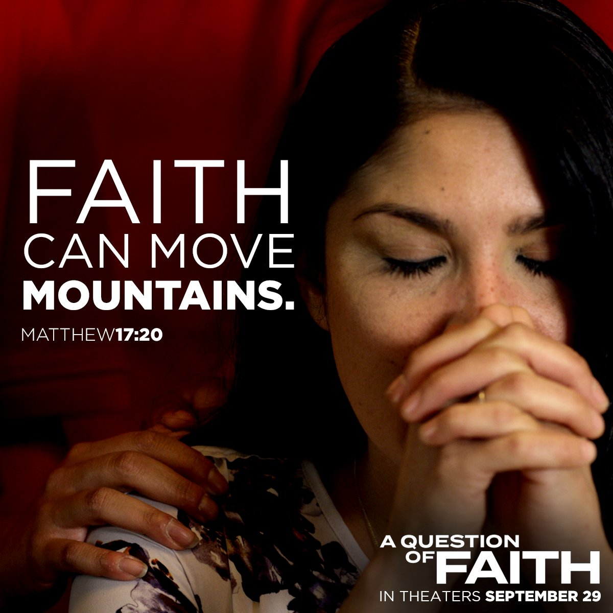 &quot;Therefore, we do NOT lose heart!&quot; See #AQuestionofFaith in #theaters 9/29. Watch -  http:// bit.ly/2xv3Pp7  &nbsp;   #Christian #movie #family #faith<br>http://pic.twitter.com/camfn9jQGT