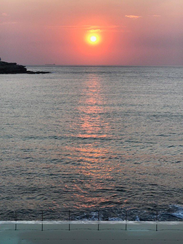 #sunrise at #bondiicebergs #bondibeach #...