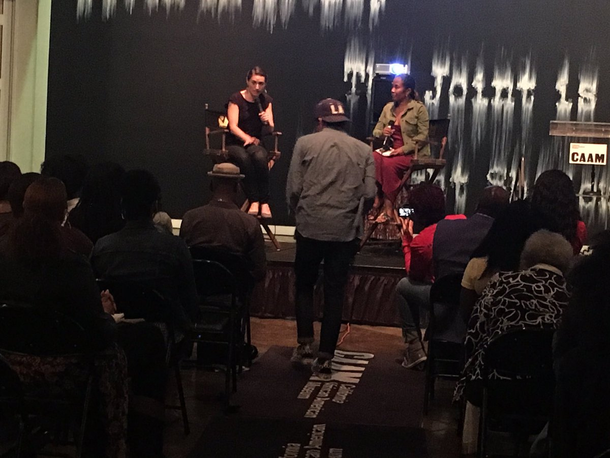 Live @CAAMinLA! @TilaneJ + producer Sarah Haufrect discuss #TeachUsAll...