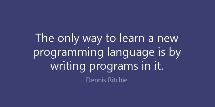 The only way to learn a new programming language is by writing programs in it.  https:// goo.gl/e5Mqk7  &nbsp;   #Career #CareerAdvice #programming<br>http://pic.twitter.com/XAmfs3ywzg