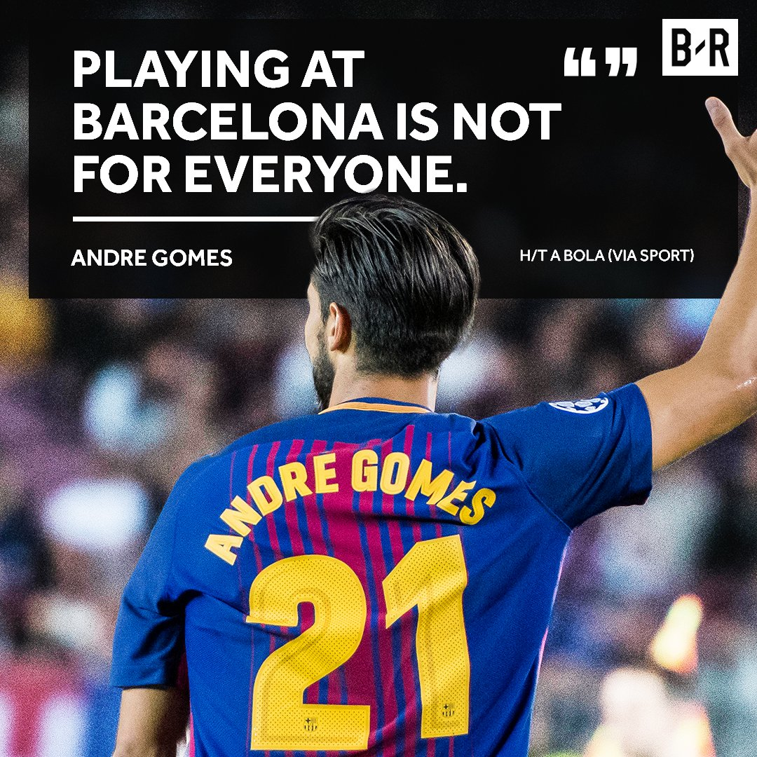 It's not been easy for Andre Gomes at Ba...
