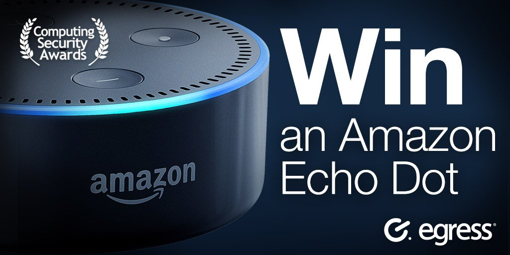Fancy winning an #AmazonEcho Then vote for @EgressSwitch in @CSMagAndAwards  http:// computingsecurityawards.co.uk/?page=egress_c sa2017vote &nbsp; …  #DataSecurity #Competition<br>http://pic.twitter.com/lAfLyVne1q
