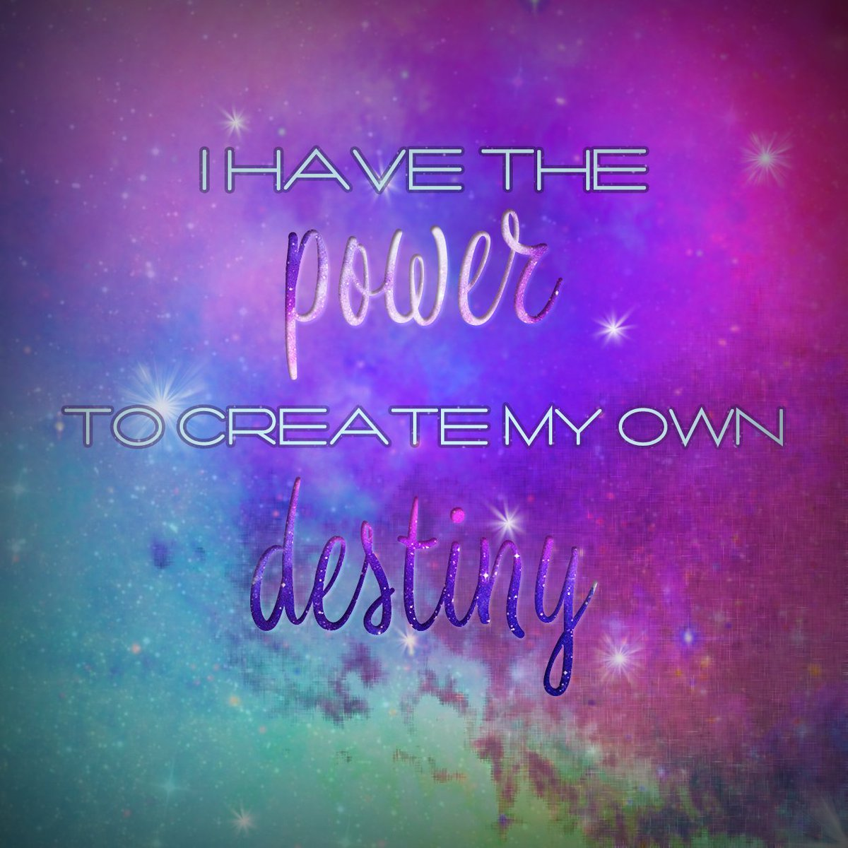 We all have the power to create our own destinies.  #affirmations #lawofattraction #manifestation #positivevibes #MysticKoneko<br>http://pic.twitter.com/loIVQsfEbj