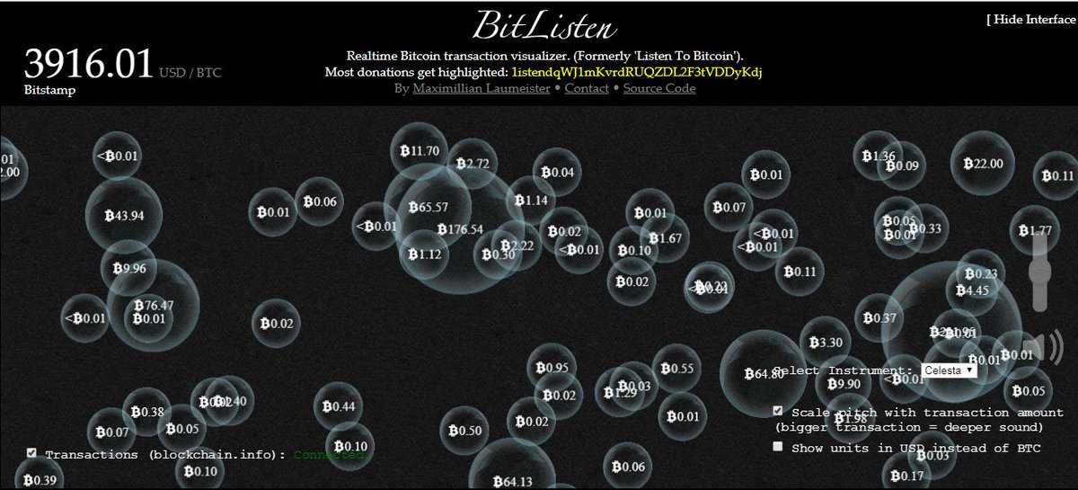 Checkout: With  http:// bitlisten.com  &nbsp;  , you can listen to bitcoin transactions happening in real-time in harmonic melodies #bitcoin #altcoin<br>http://pic.twitter.com/bbjyVacNsn