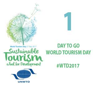 1 DAY to go until #WTD2017, 27 September2017, themed &quot;International Year of Sustainable Tourism for Development&quot; #WeDoTourism #TourismMonth<br>http://pic.twitter.com/jOkKhibTk3