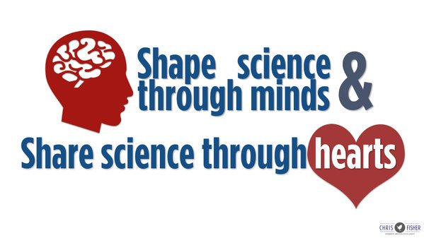 Shape science through minds Share science through hearts #scicomm <br>http://pic.twitter.com/8Ibi6KEmlw