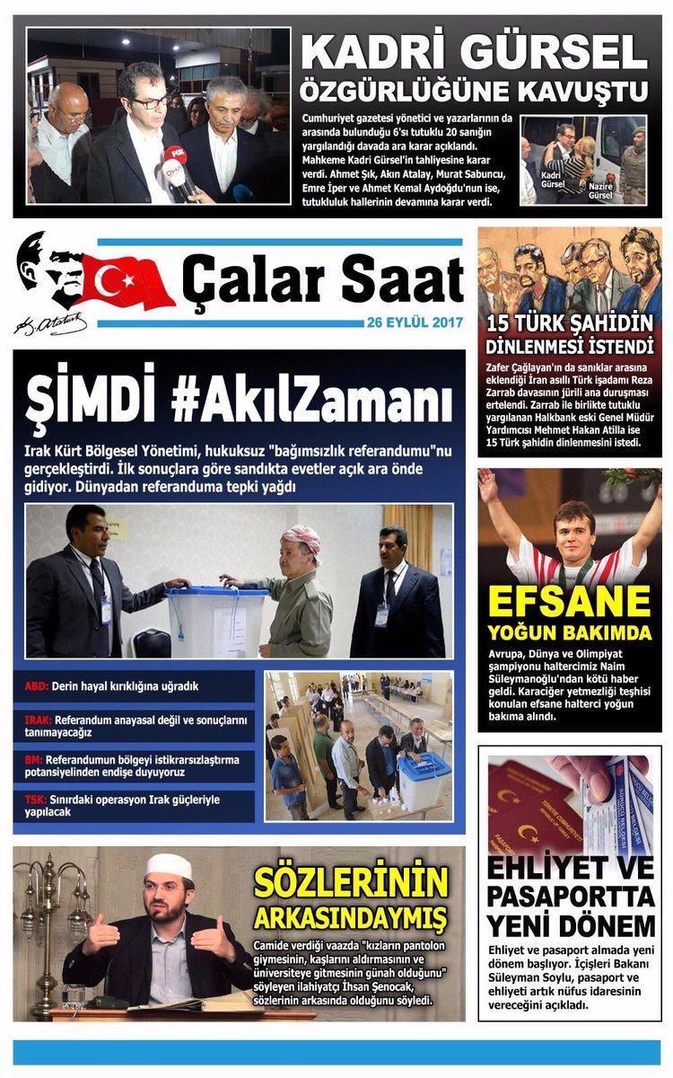 Gündemin en önemli haberleri #ÇalarSaatGazetesi'nde! @KucukkayaIsmail...
