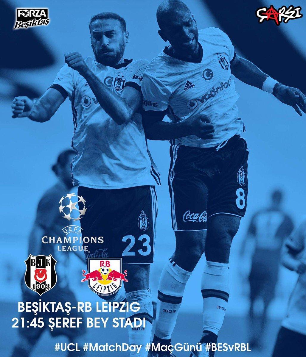 UEFA Şampiyonlar Ligi'nde rakip RB Leipzig  #ZafereKanatlan  #Beşiktaş...