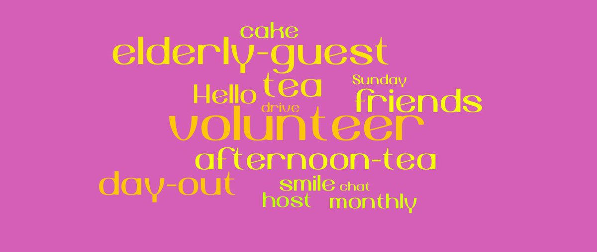 On #CharityTuesday a few words to sum up @contact_teas  Volunteers share a few hours one Sunday a month with elderly guests who live alone<br>http://pic.twitter.com/R5BLQqN4Ex