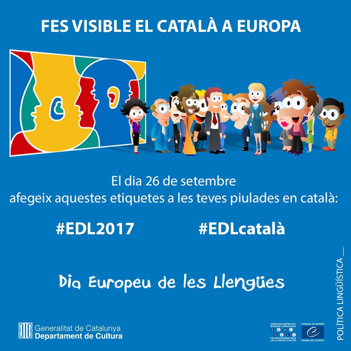 El CPNL amb el Dia Europeu de les Llengües. Fem visible el #català! #E...