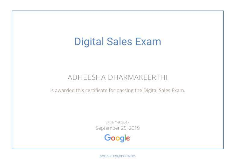 Another milestone in my career in #Digital #Marcom :)   #GooglePartners #DigitalSales  exam: Checked!   #eMarketingEye #GoogleAdWords <br>http://pic.twitter.com/SsTPWPuT1J