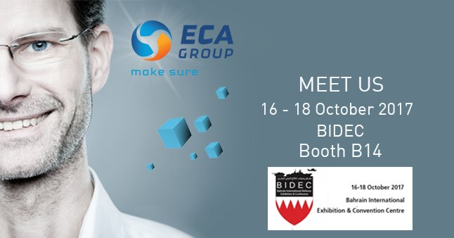[#EVENT] See you at @visitbidec in Bahrain, booth B14, to discover @ECA_Group #Unmanned #Robotic #solutions:  https:// buff.ly/2xAFVZ6  &nbsp;  <br>http://pic.twitter.com/8zvt2kTjaA