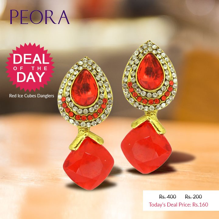 #DealOfTheDay - Don&#39;t miss the chance to buy these fabulous #Red Ice Cubes #Danglers just for Rs.160 only -  http:// bit.ly/2y5Q41C  &nbsp;    #offer<br>http://pic.twitter.com/CGqRkvnpdu