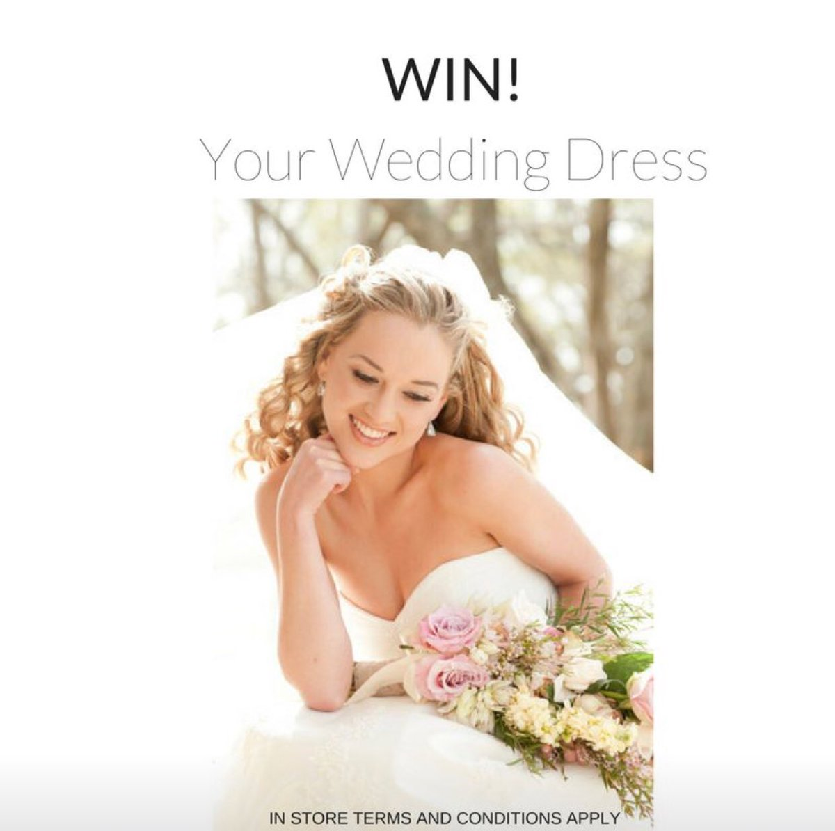 RETWEET for a chance to WIN! Entries close 21st of October 2017 midnight. #win #wedding #weddingdress terms and conditions apply<br>http://pic.twitter.com/g1WmssBfUI