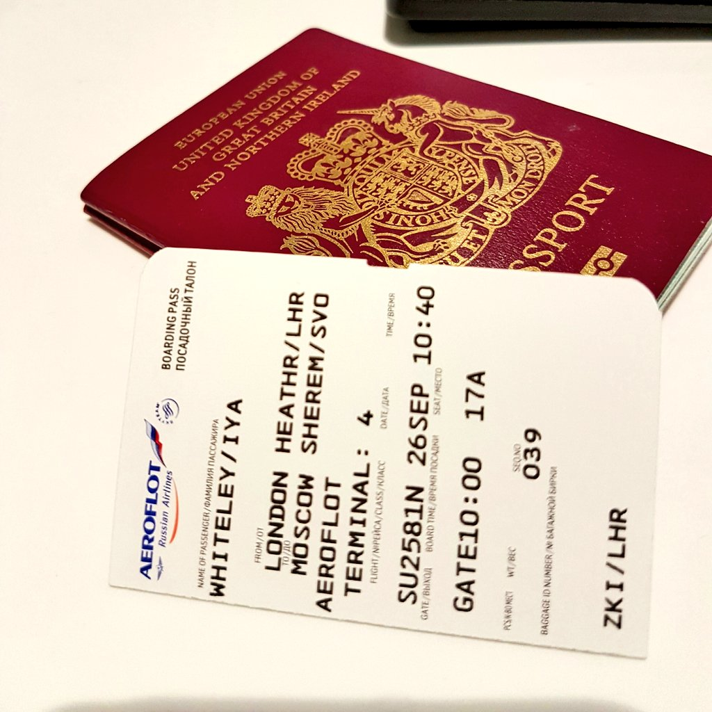 Off to Moscow this morning to work with Russian scientists ✈ What are...