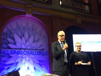 #HelsinkiChallenge #Impact Camp opening in #Brussels by @ThomasWson &amp; @spietikainen #Science @unifiry @helsinkiuni<br>http://pic.twitter.com/ny3Kmhk3Aj