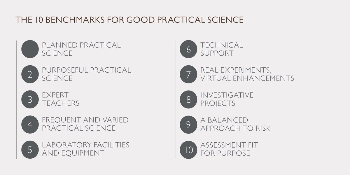 Today is the launch of our #GoodPracticalScience report. Discover 10 benchmarks to improve your #science lessons  http:// bit.ly/2xDRe3p  &nbsp;  <br>http://pic.twitter.com/22WvP6d91J