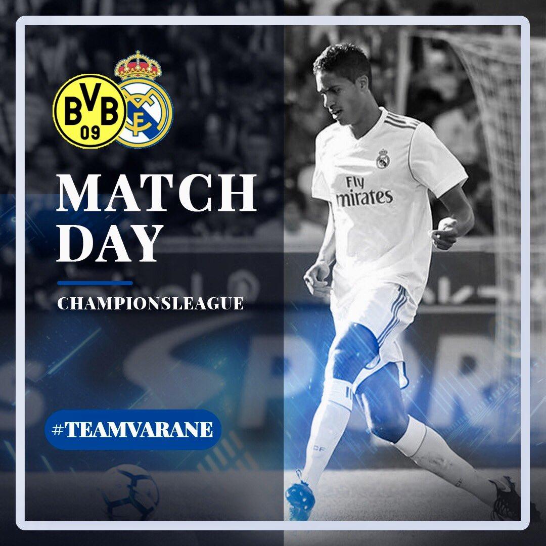 Match VS Dortmund ➡️ 20:45 ⚽️👊🏾🔥 #HalaMadrid #ChampionsLeague