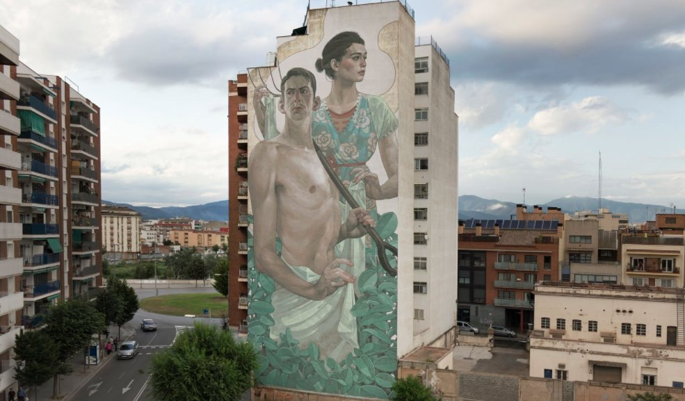 Gigantic #urban #mural #artworks by Arys (found via @fubiz) &gt;  http://www. fubiz.net/en/2017/09/25/ gigantic-mural-artworks-by-aryz-2/ &nbsp; … <br>http://pic.twitter.com/TvQKKGeyo3