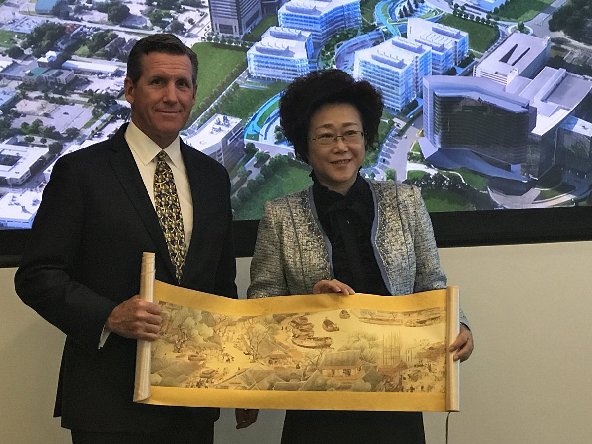 Enjoyed the opportunity to share the @TXMedCenter mission and vision with the Vice-Mayor of #Shenzhen. #TMC <br>http://pic.twitter.com/ZGEv5imTL7