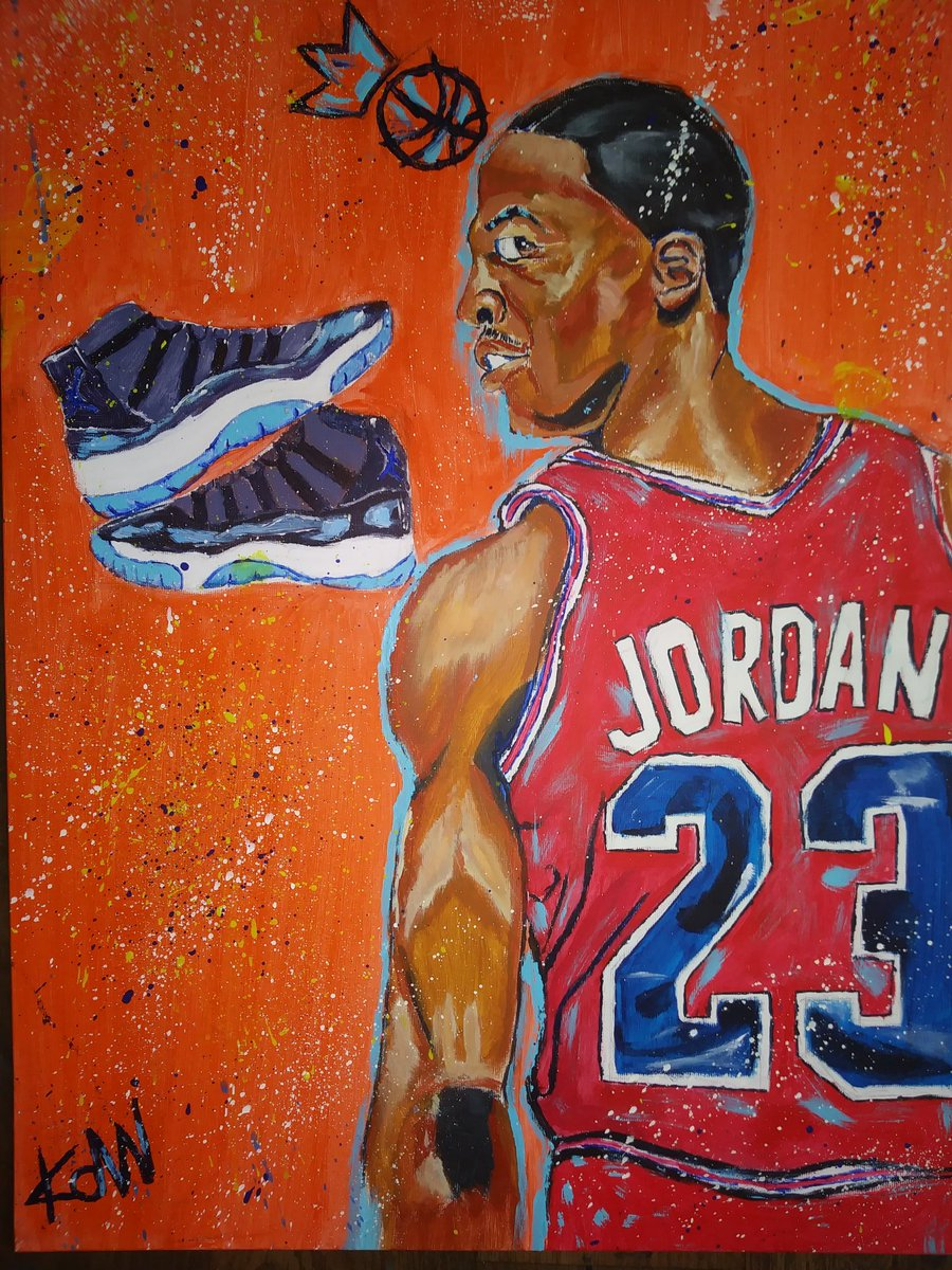 Michal Jordan painting @Jumpman23 #MichaelJordan #artistic #painting #ledgend #Twitter #  ##acrylic #likeforfolow #artist #gifted #talent<br>http://pic.twitter.com/Y7CsPUayUs