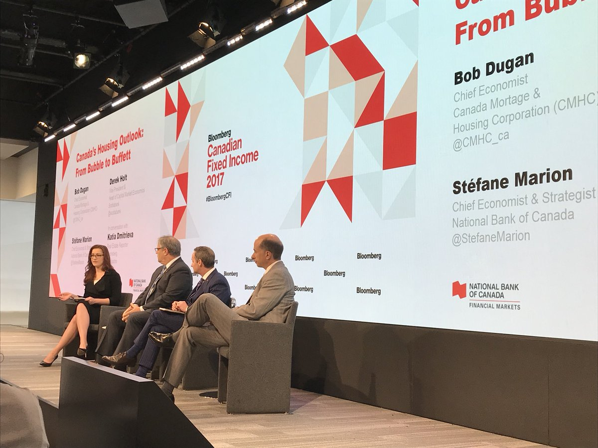 #CMHC Chief Economist Bob Dugan speaking on #Canada #housing market at Bloomberg Canadian Fixed Income Conference #BloombergCFI<br>http://pic.twitter.com/M11eEUf1oZ