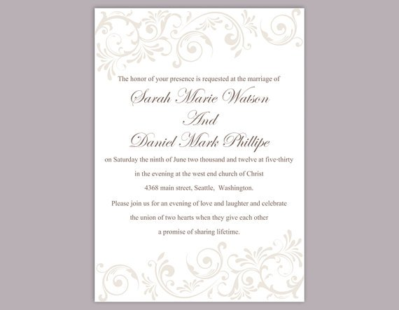 DIY #wedding Printable Wedding Invitation Card Invitation Template #diy #weddings #etsy #bridal #etsymntt Card LINK-  https:// goo.gl/JM3fd8  &nbsp;  <br>http://pic.twitter.com/bDqrf7YjFr
