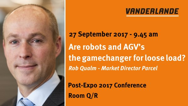 Are #Robots and #AGVs the Game Changer for Loose Loads? Find out tomorrow at @Post_Expo 2017 Conference. See you there!<br>http://pic.twitter.com/jXeqJsbuUC