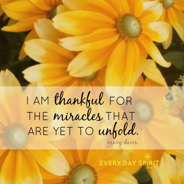 The world could use some unfolding miracles today. Take compassionate action, and believe in miracles.  #JoyTrain xo  http://www. everydayspirit.net  &nbsp;  <br>http://pic.twitter.com/nJSH90qIcK