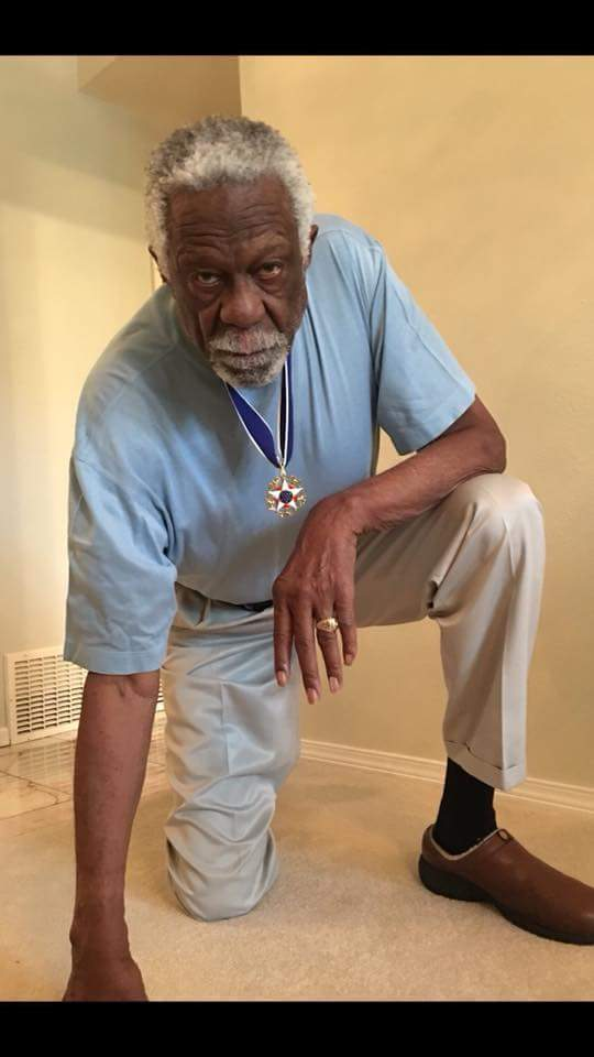 Image result for bill russell knee