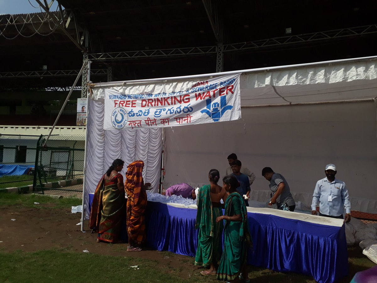 @HMWSSBOnline Sir, Driniking water CAMPs provided at Different places at LB Stadium for #Mahabhatukamma programme #Telangana <br>http://pic.twitter.com/63KobjJpjQ