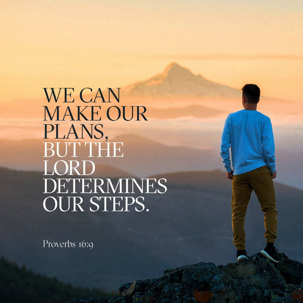 We can make our plans, but the LORD determines our steps. https://t.co/N5YzBWz3Yi https://t.co/UYqljU7GuS