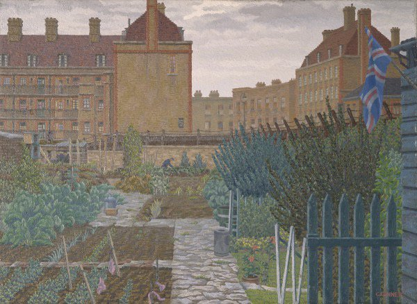 Bethnal Green Allotments by Charles Ginner 1943. Seventy three years later, #allotment movement still strong. <br>http://pic.twitter.com/rHEGL4Jj1w