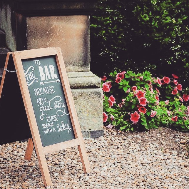 Our &#39;bar&#39; #chalkboard sign in action! Get your #wedding sign here:  http:// etsy.me/2xxo6IW  &nbsp;  <br>http://pic.twitter.com/trmjP8AUbs