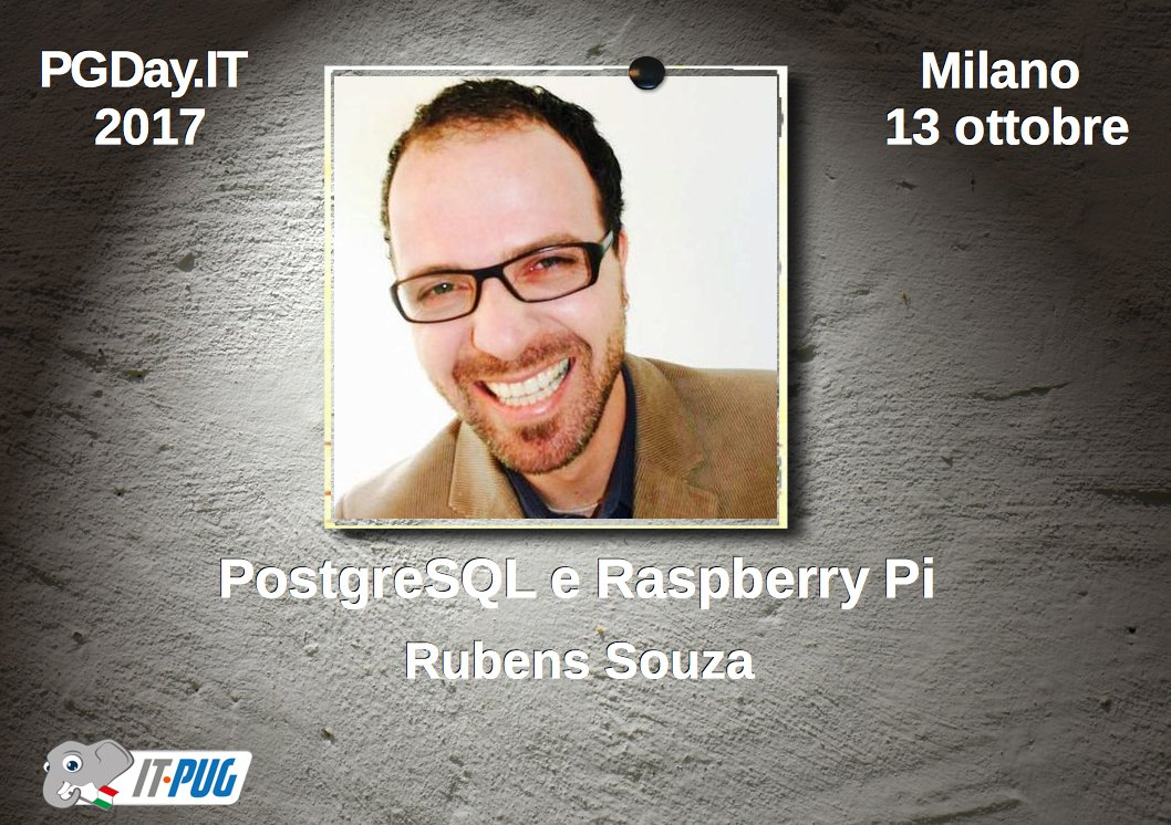 Con &quot;#PostgreSQL and the @Raspberry_Pi &quot; @rubens_ts  al #PGDayIt #2017 #Milano #13_ottobre #OpenSource  https:// goo.gl/2ubUeE  &nbsp;  <br>http://pic.twitter.com/pwrvipfeDw