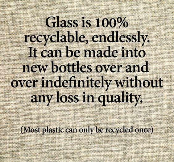 Glass is 100% recyclable, endlessly. #recycle #PlasticFree #spreadawareness<br>http://pic.twitter.com/AtmZEOSFZC