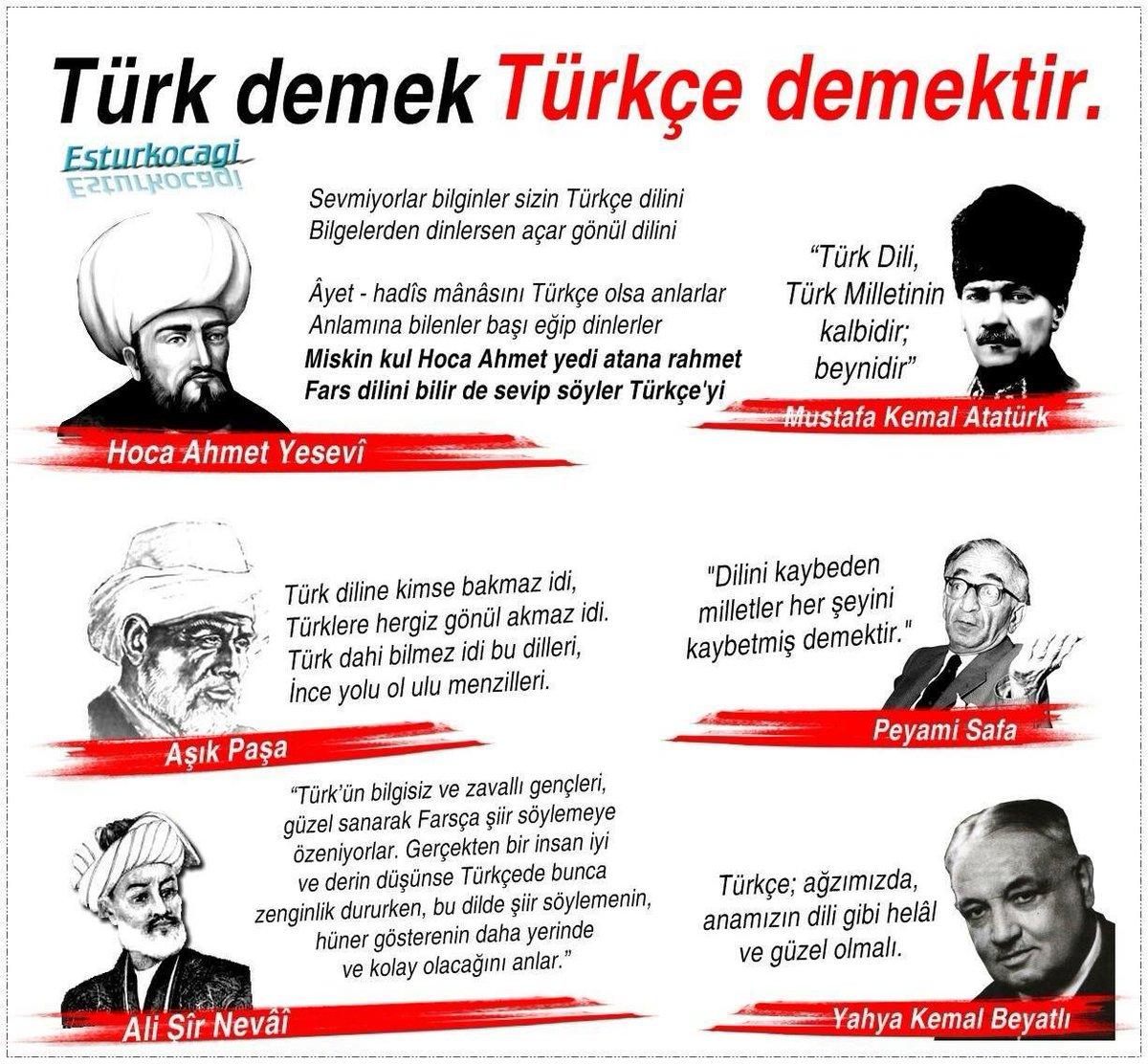 """Eskişehir Türk Ocağı 🇹🇷 على تويتر: """"Türk demek Türkçe demektir...  #türkçe… """""""