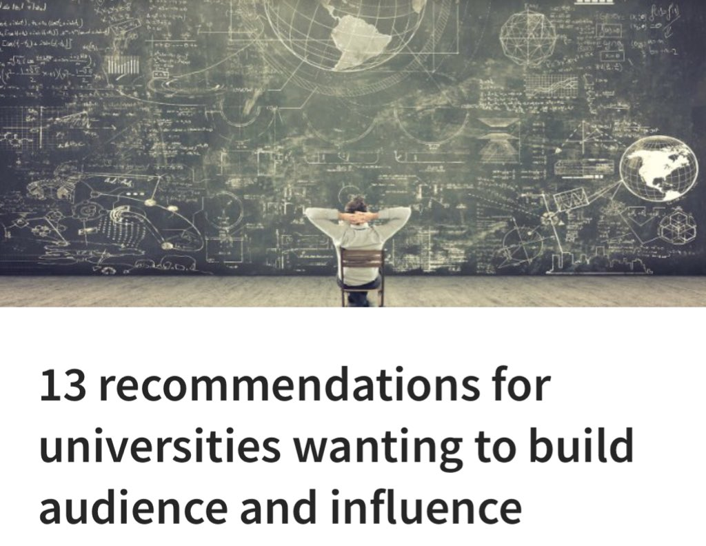 13 recommendations for universities wanting to build audience and influence  https://www. linkedin.com/pulse/13-recom mendations-universities-wanting-build-audience-kylie-ahern &nbsp; …  #scicomm #science<br>http://pic.twitter.com/s8OTk3f5x4