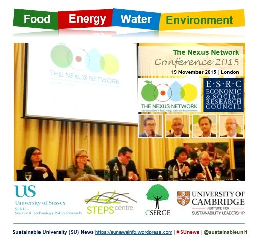 Taking #Research confs 2 #public @UK_Nexus Conf2015  https:// sunewsinfo.wordpress.com/2015/12/07/com plexity-interdisciplinarity-and-sustainable-prosperity-shine-at-food-energy-water-environment-nexus-conference-2015/ &nbsp; …  #BhamResCon17 #ResearchImpact #REF2021 @UOBengage @IAS_UoB @ESRC<br>http://pic.twitter.com/QAGBmg0Bwv