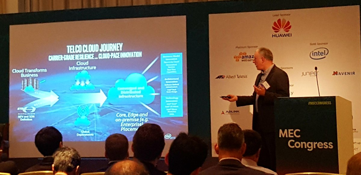 The Telco Cloud Journey for #Edgecomputing presented by @intel at #MECCONGRESS Berlin  key need on people/process: Intro of #DevOps #agile<br>http://pic.twitter.com/jVle7uVVdS