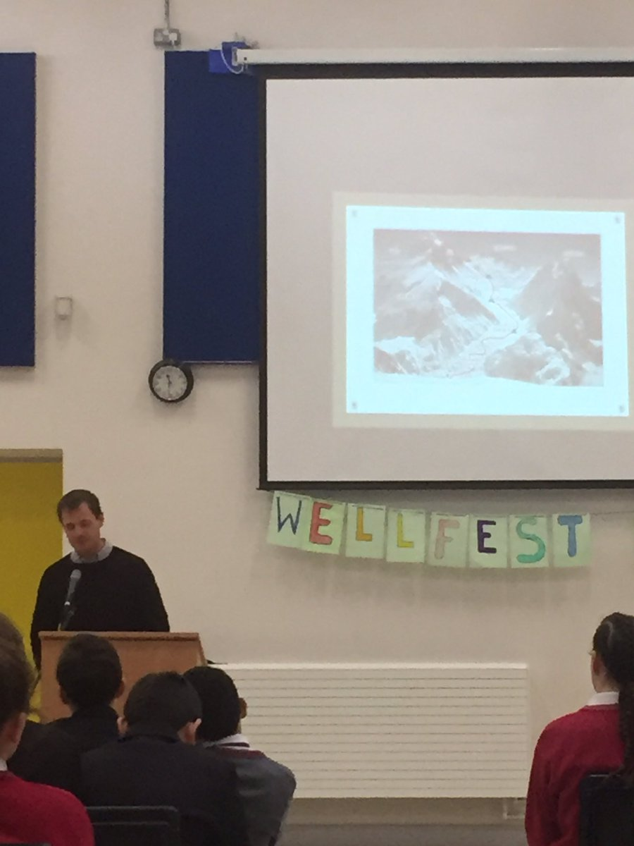 Mr John Burke 1st Clare man to climb Mount Everest sharing his story with our 3rd years #determination #confidence #challenges #balance<br>http://pic.twitter.com/O6O2ZgPDnN
